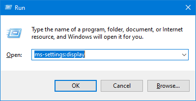 Easy access to any settings panel for Windows 10